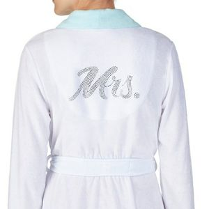 MRS Rhinestone Just Married Robe Wedding I Do New